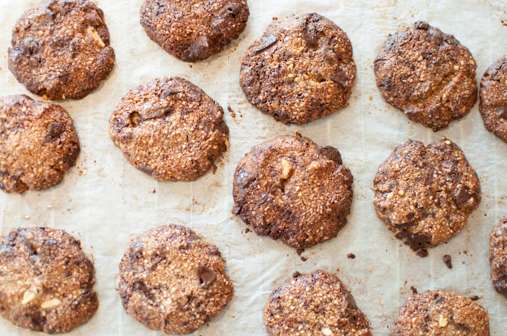 chocolate chips cookies (glutenfri/paleo)