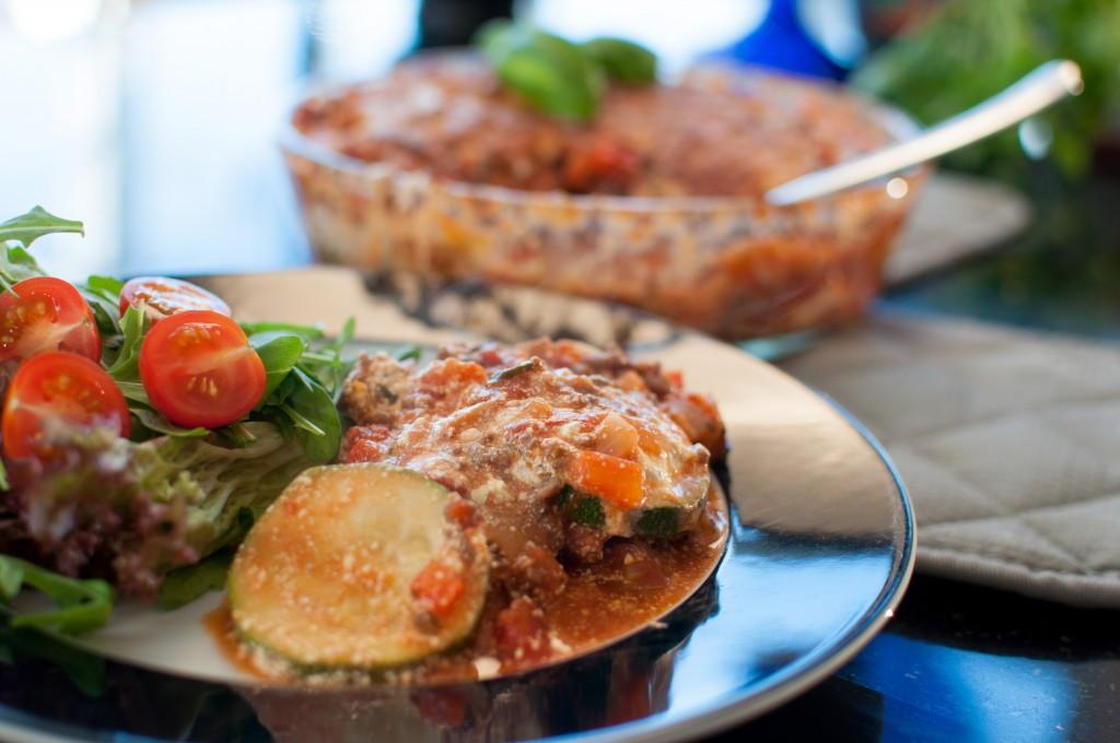 lasagne med squash