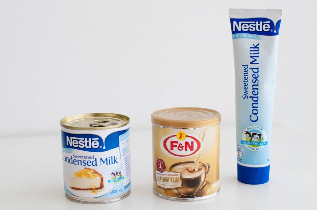 søt kondensert melk