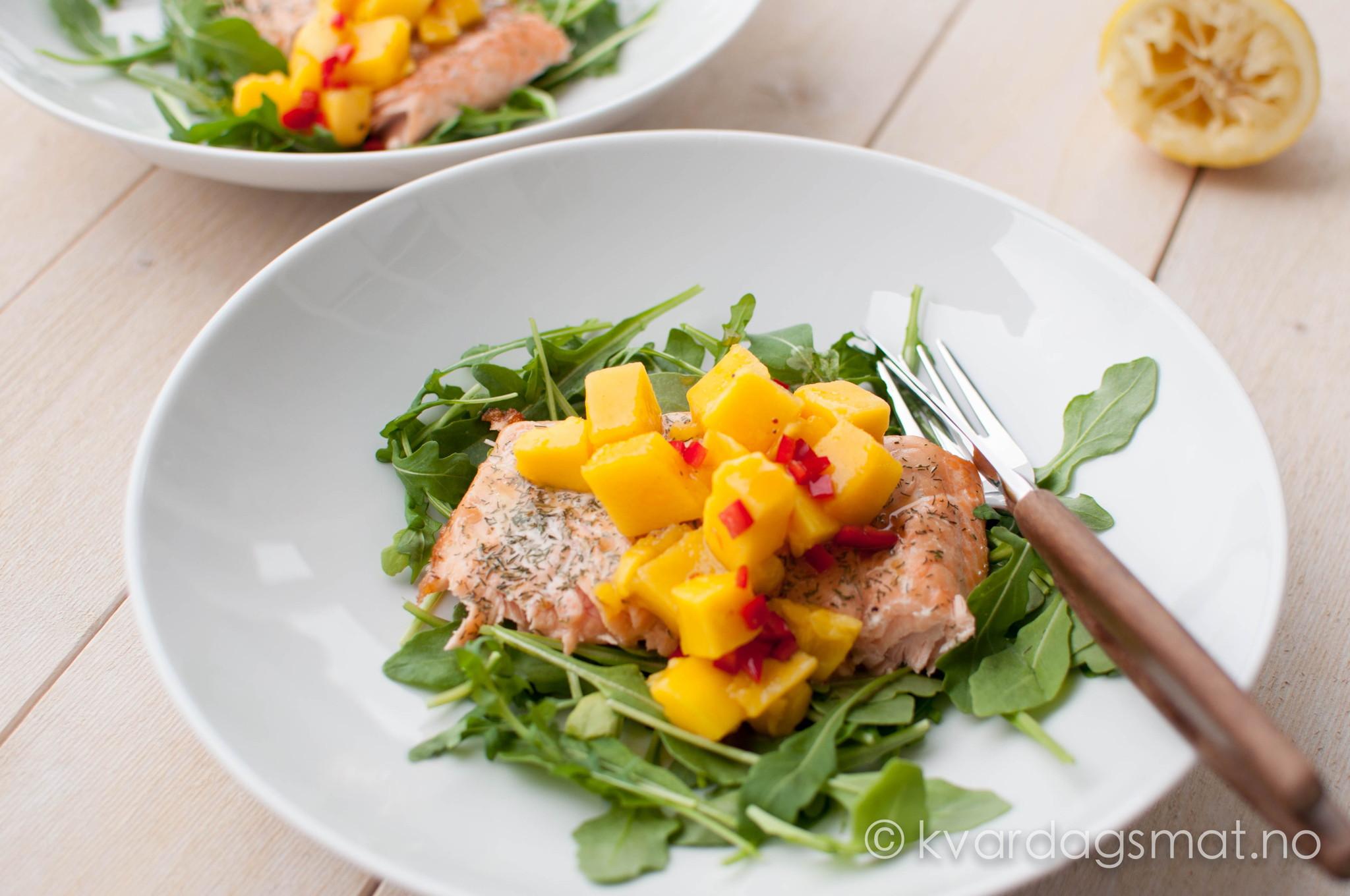 laks med spicy mango