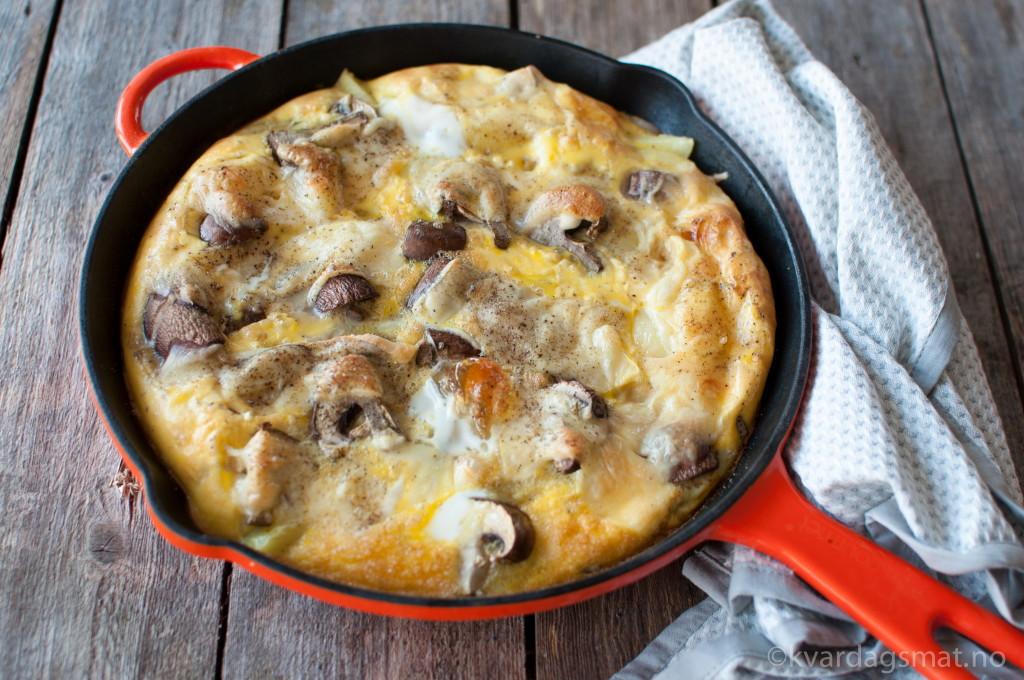 poteter omelett