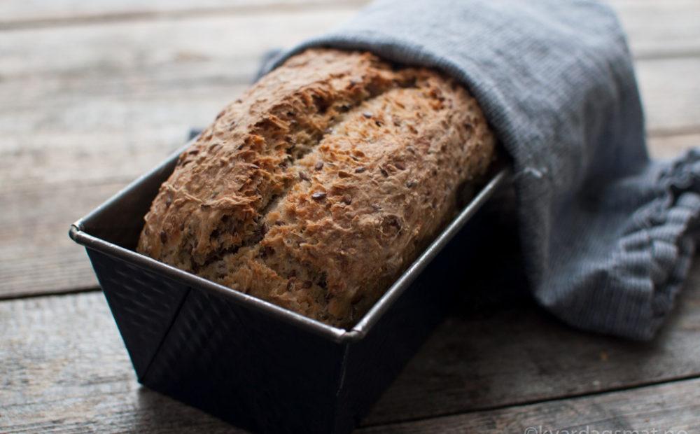 oppskrift eltefrie brød