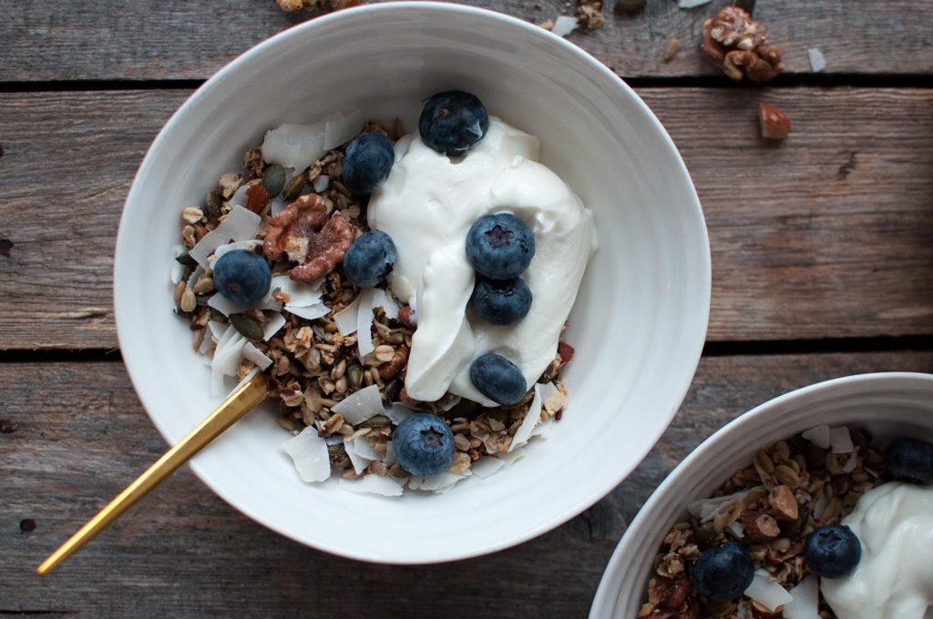 oppskrift granola kokos