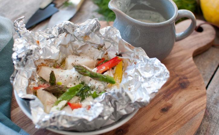 grill fisk torsk