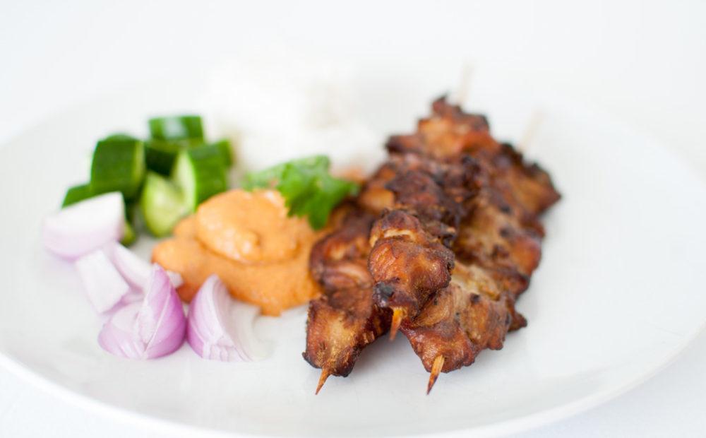 grillspyd satay