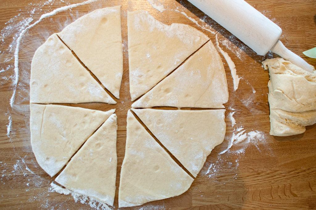 horn med skinke og ost