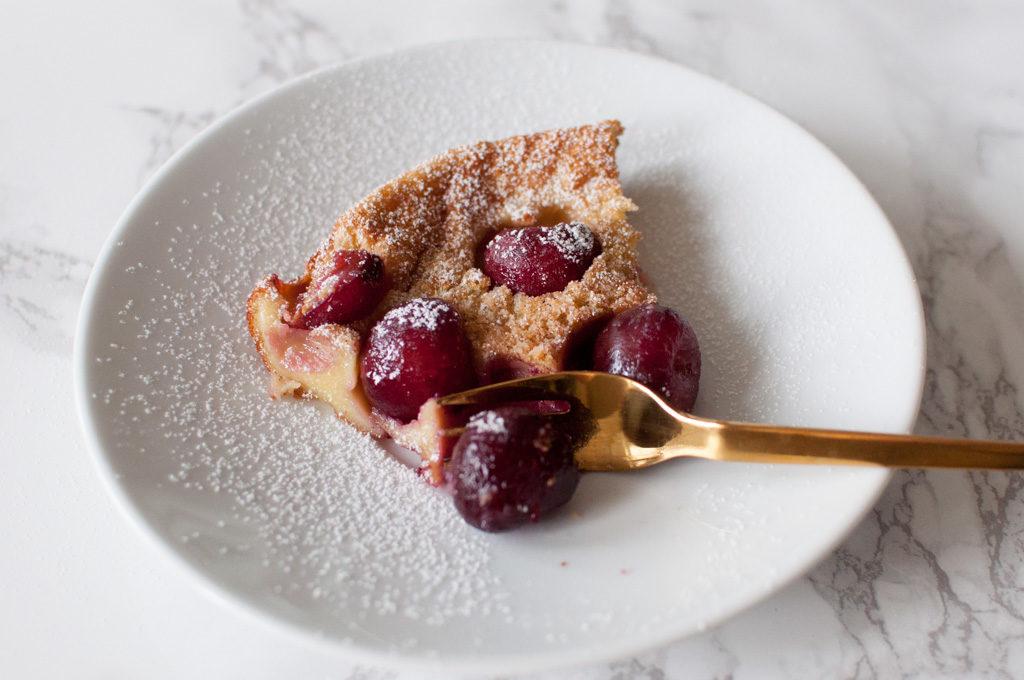 fransk dessert kirsebær