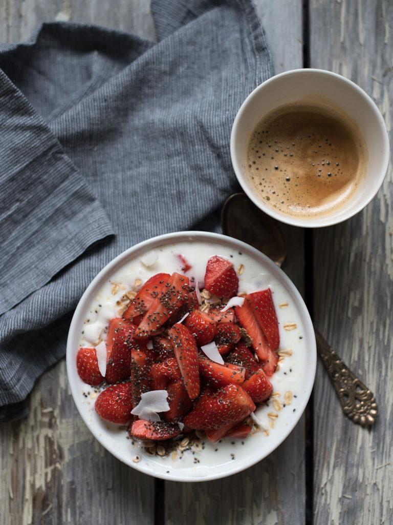 musli med jordbær