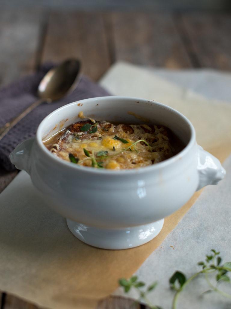 gratinert løksuppe