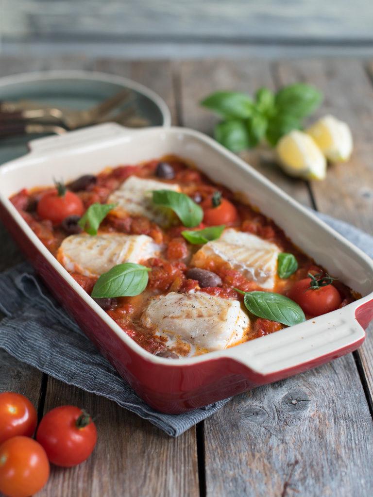 torsk i tomatsaus