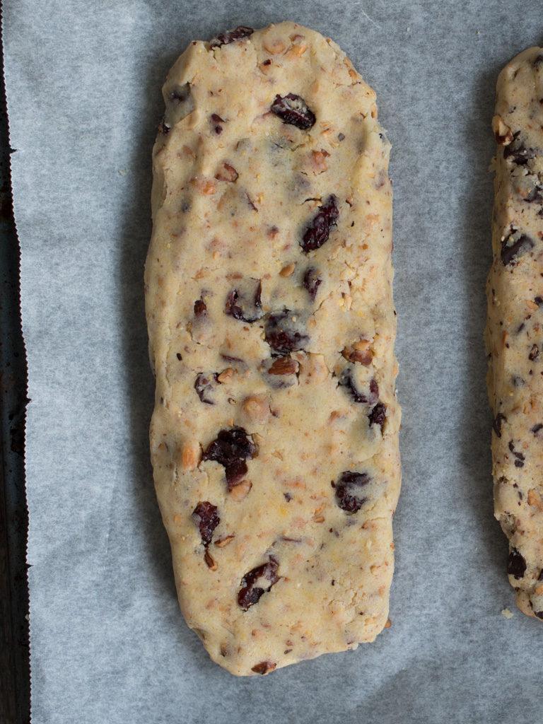 biscotti med tranebær
