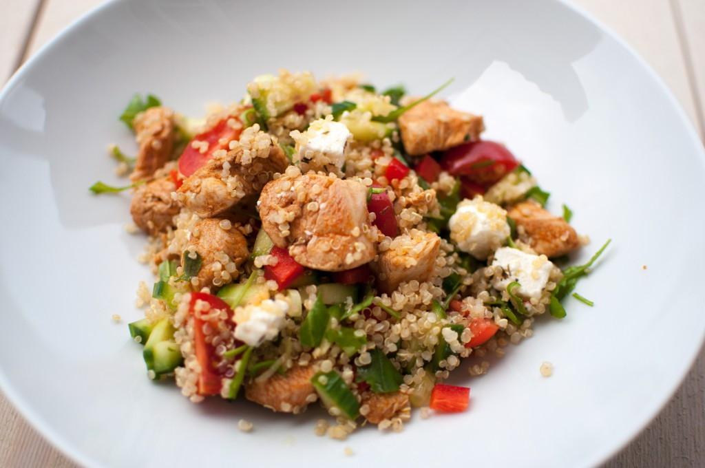 Kyllingsalat med quinoa