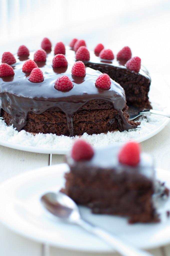 """Sjokoladekake frå """"Slikkepott"""""""