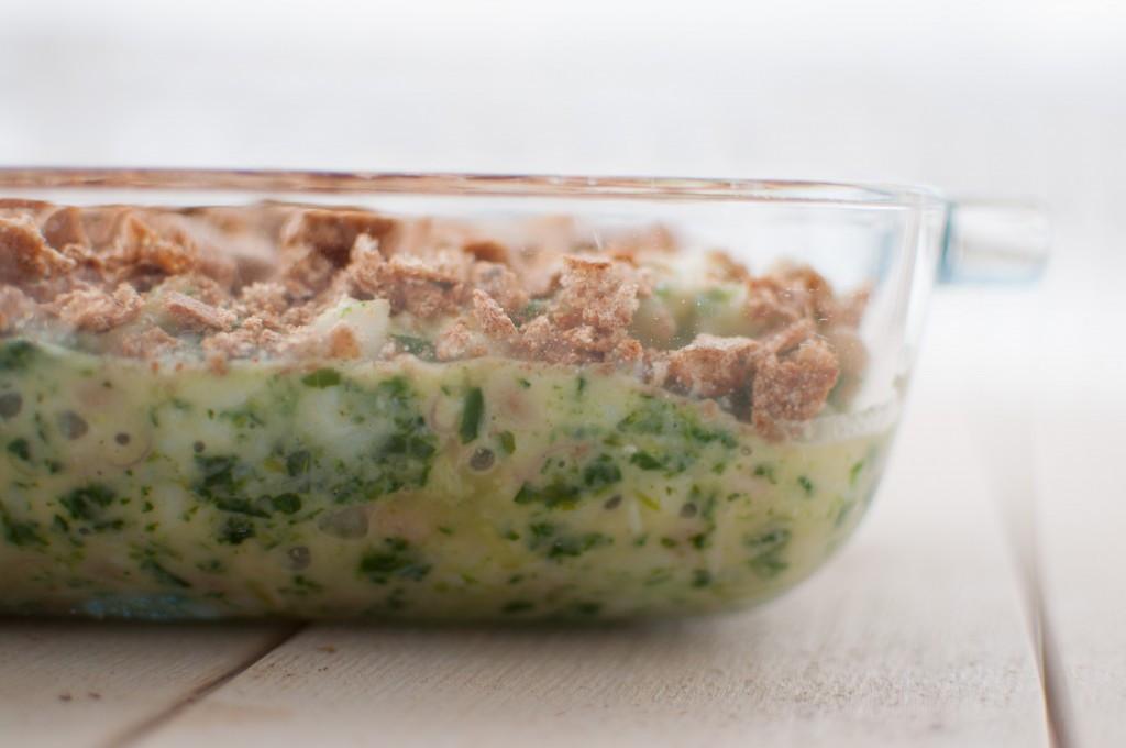fiskegrateng med spinat og parmesan