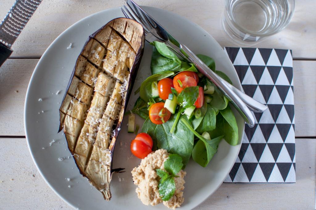grilla aubergine