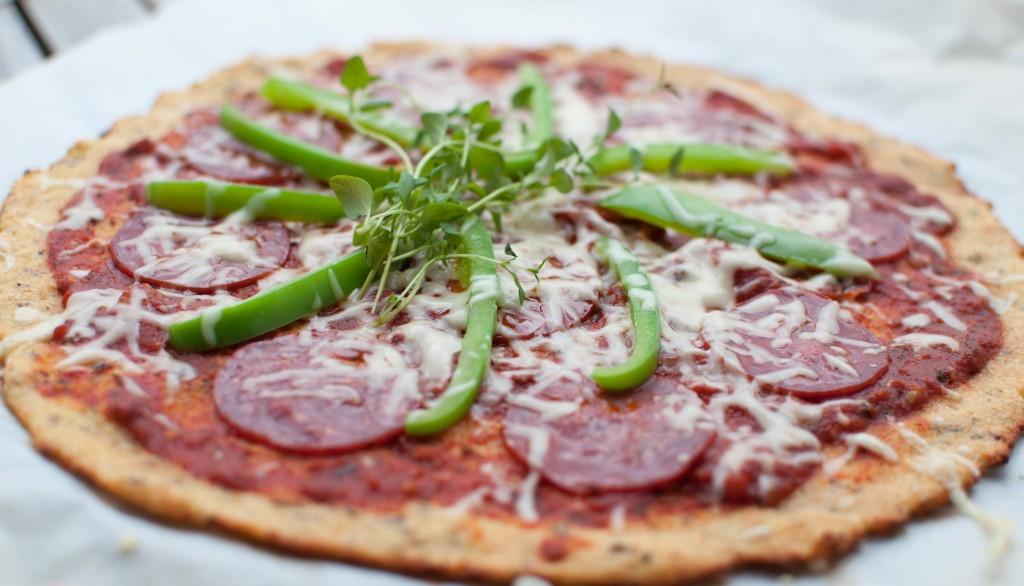 pizza av blomkål