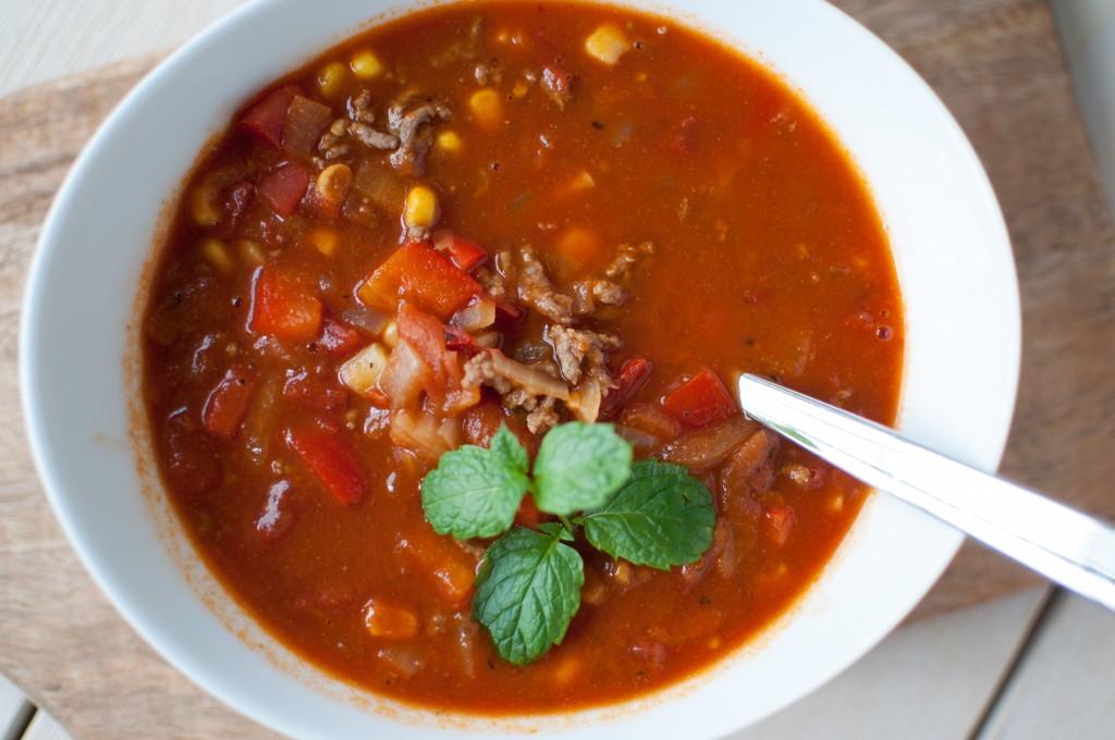 suppe med tacosmak