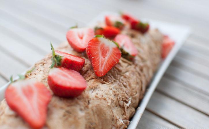 jordbær kake