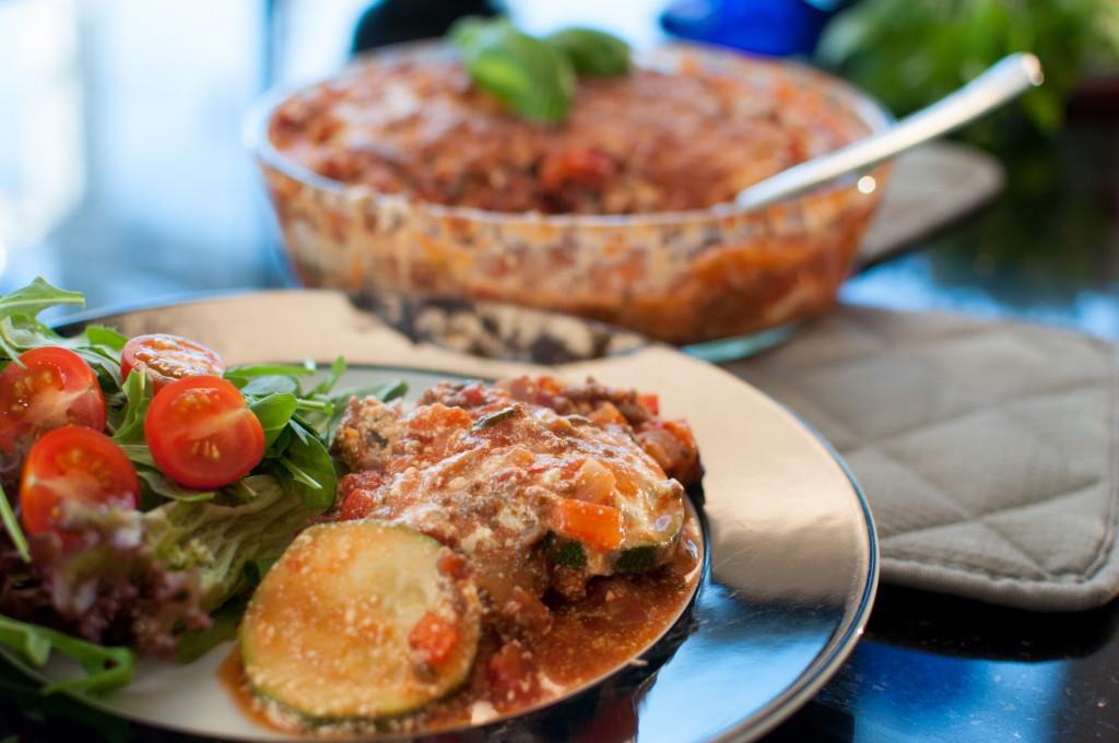 """""""Lasagne"""" med squash (glutenfri)"""