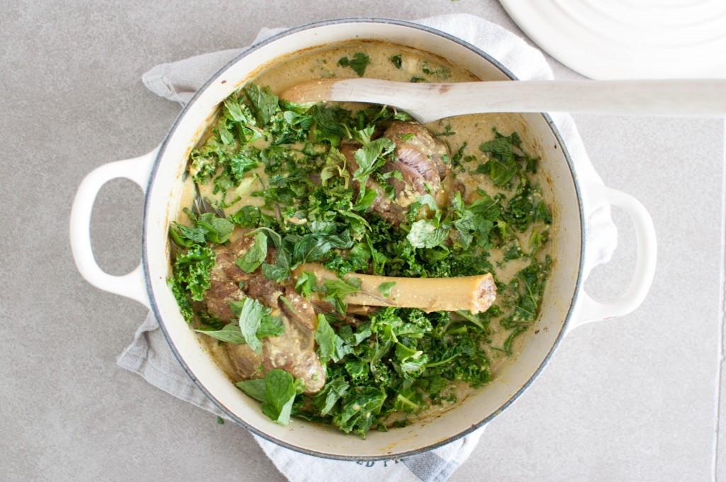 braisert lammeskank med grønnkål