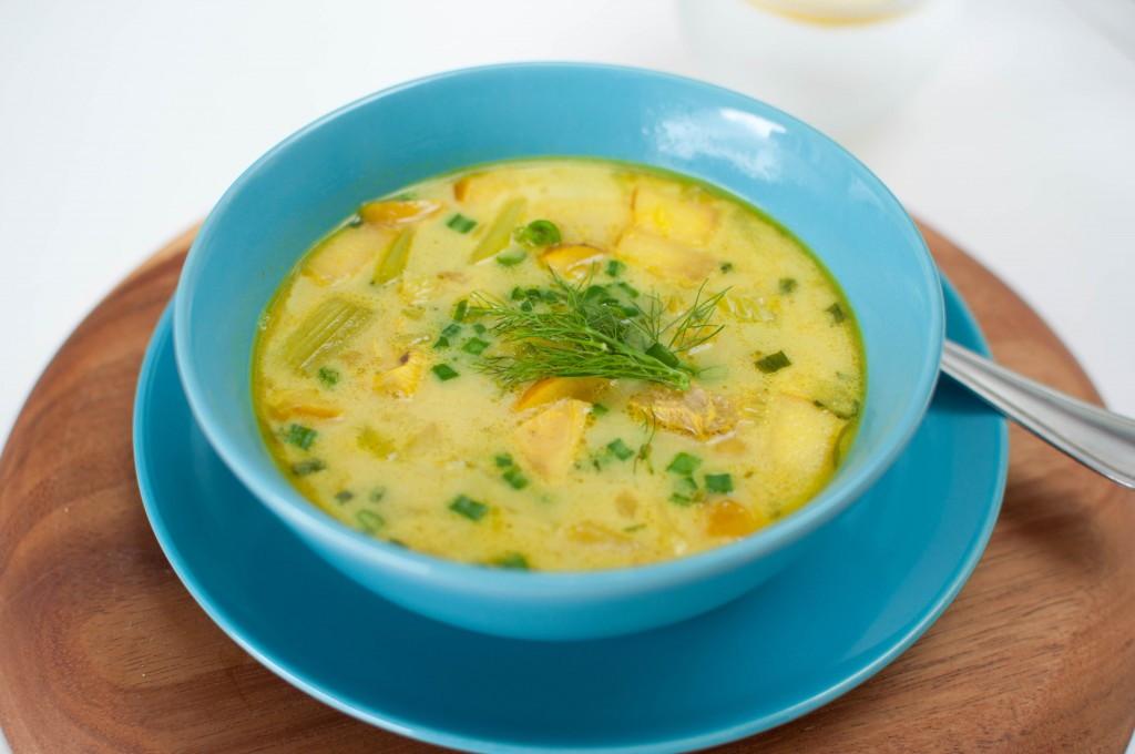 fennikel og eple suppe