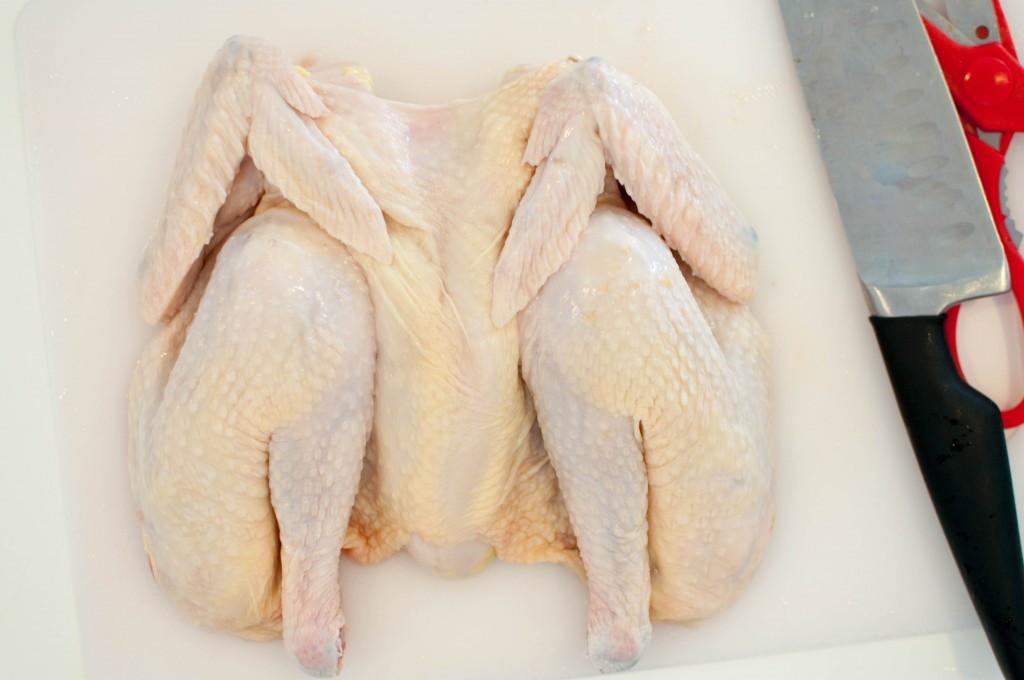 dele opp kylling