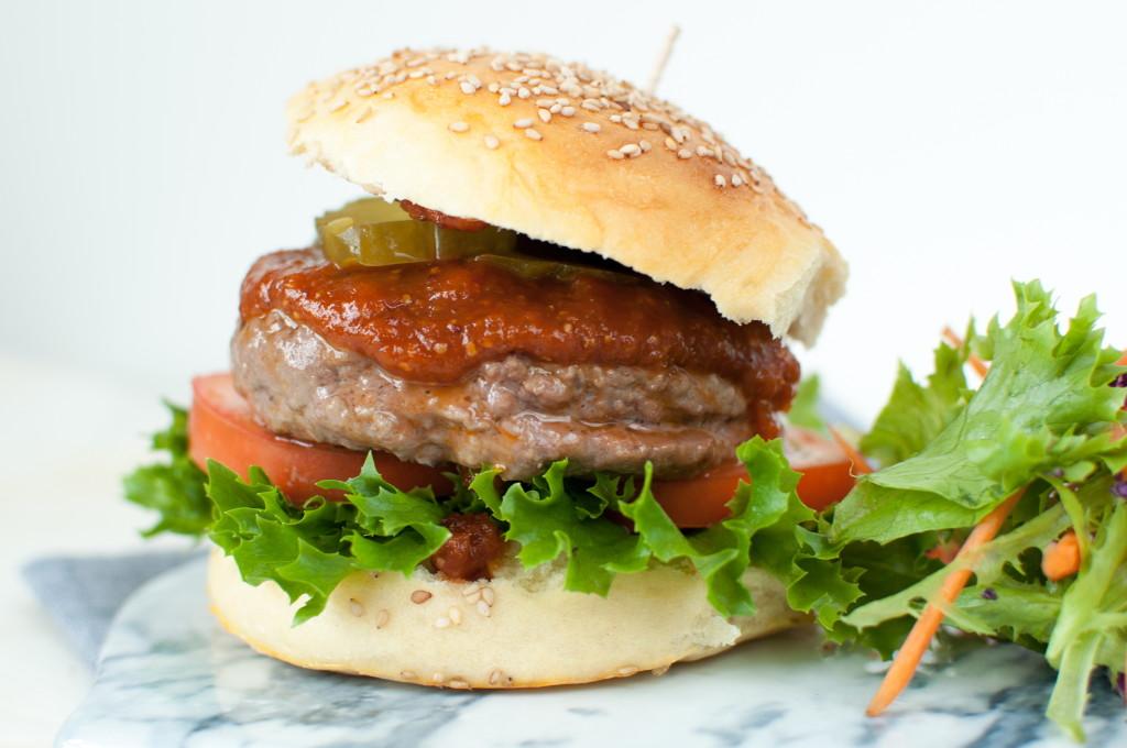 heimelaga hamburger