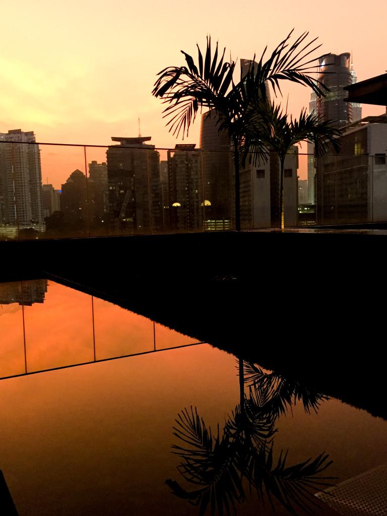 solnedgang på taket