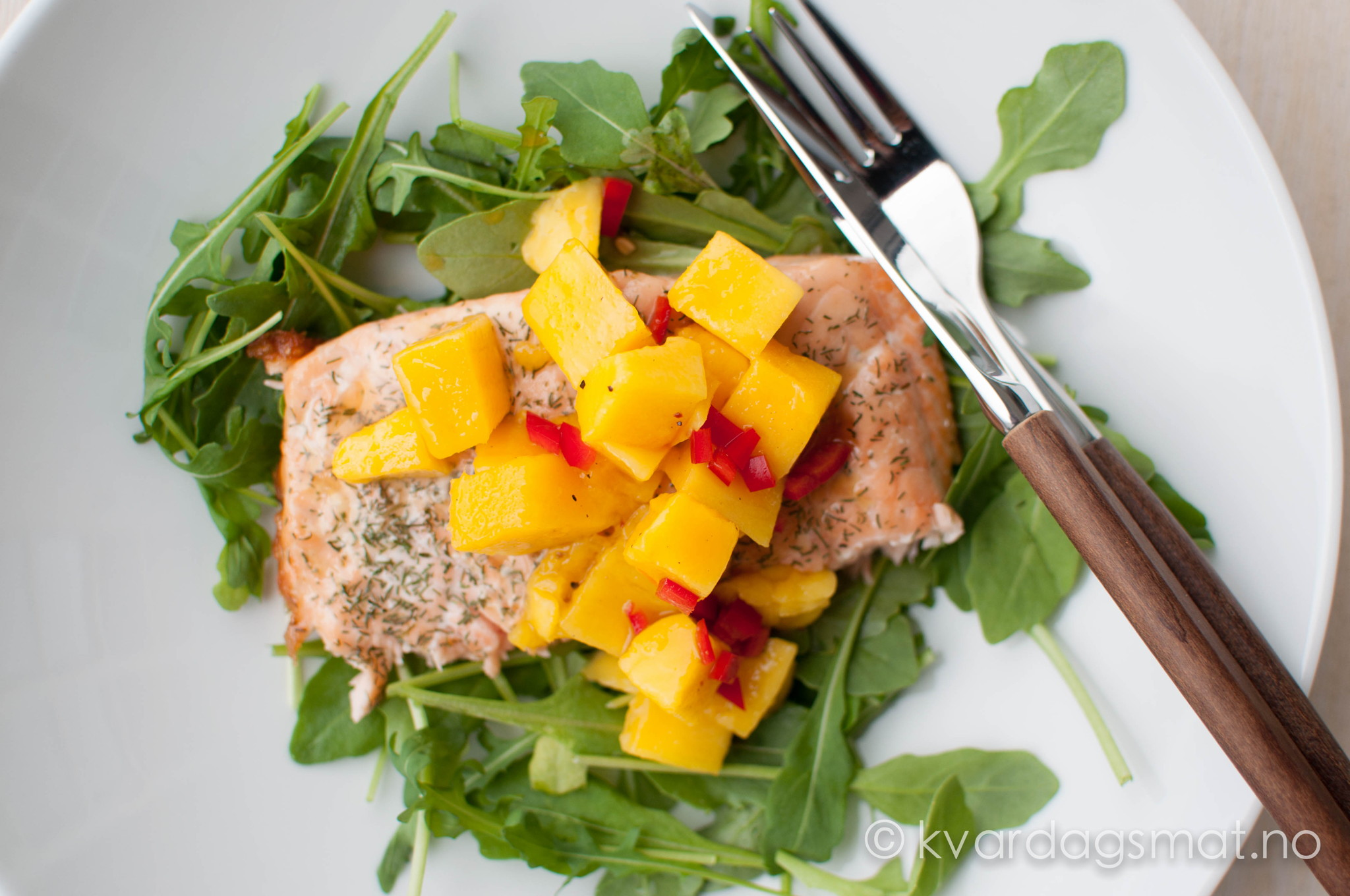 grilla laks med mango