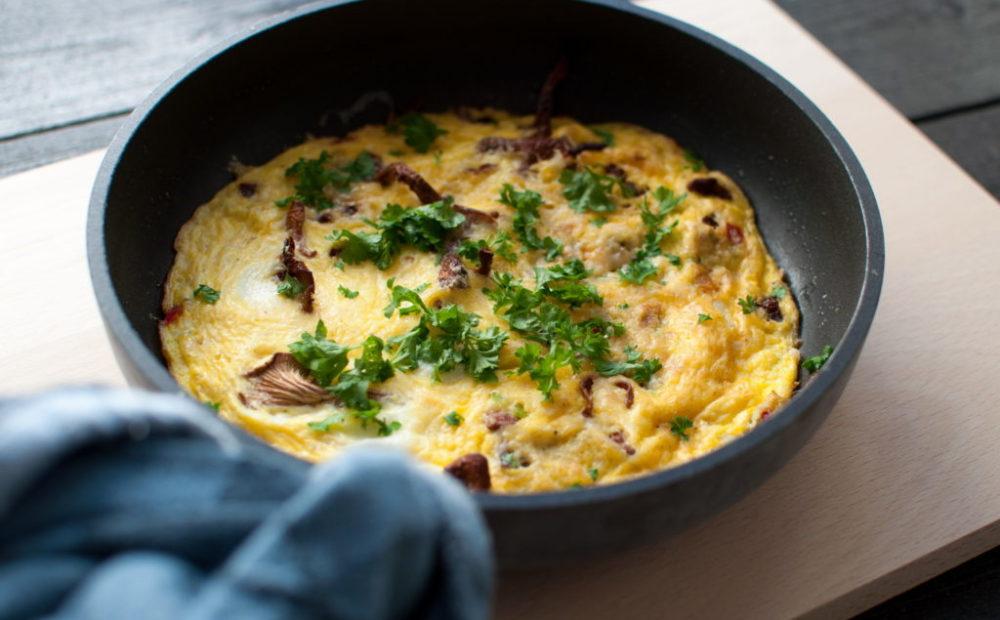 omelett med kantarell