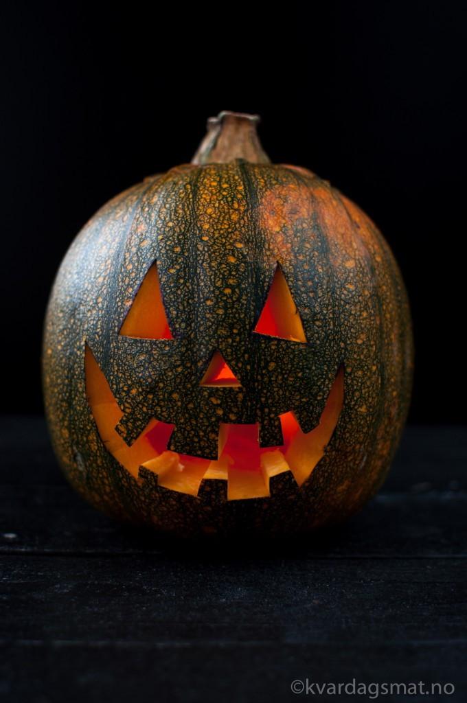 enkel halloween-lykt