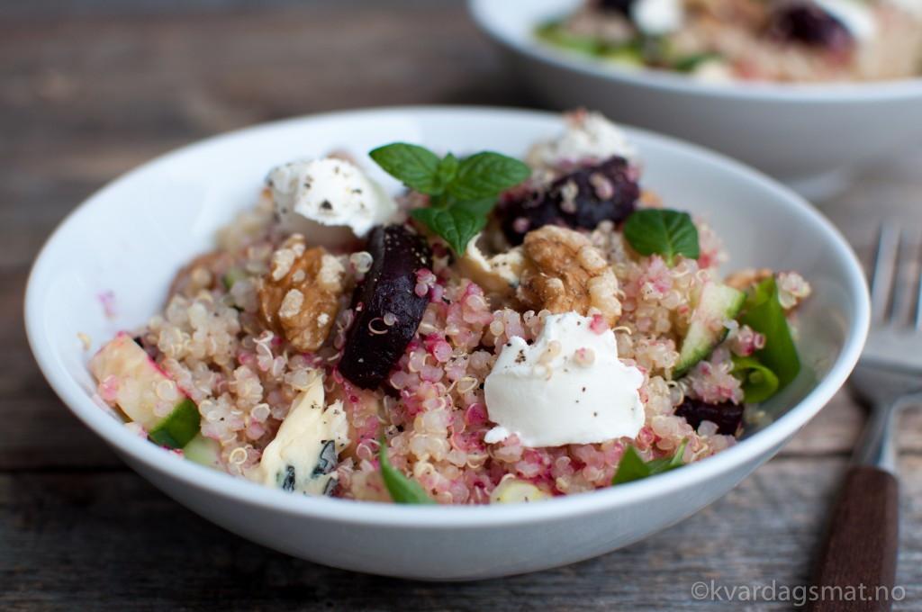 quinoa og rødbetsalat