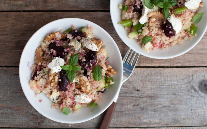 rødbet salat quinoa