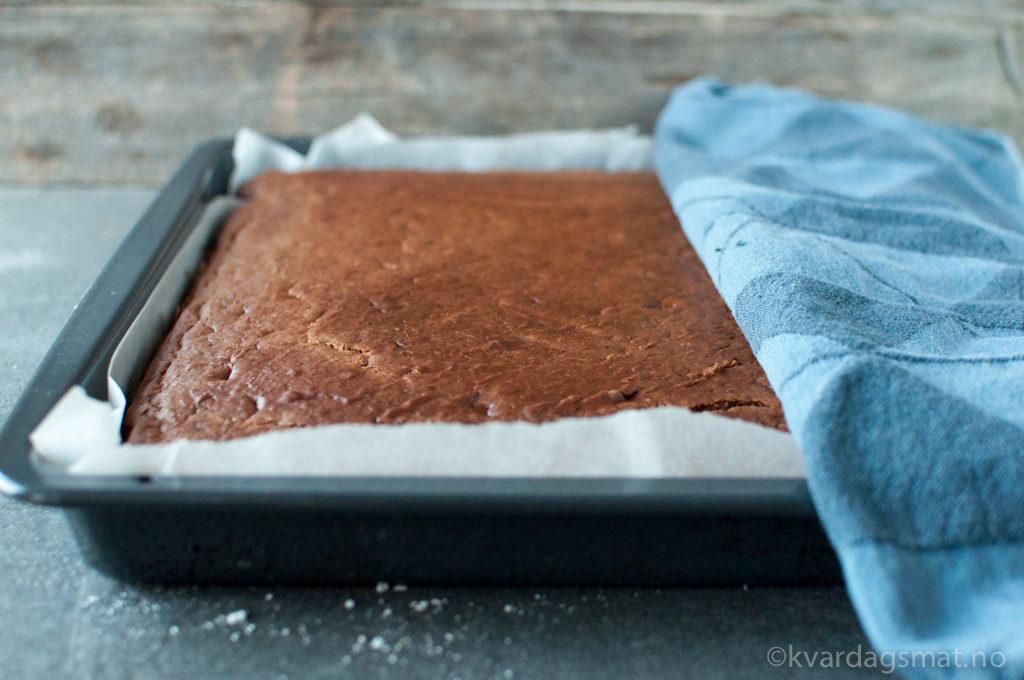 oppskrift sjokoladekake i langpanne