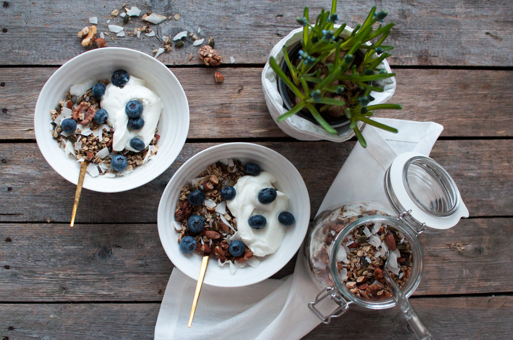 granola med kokos