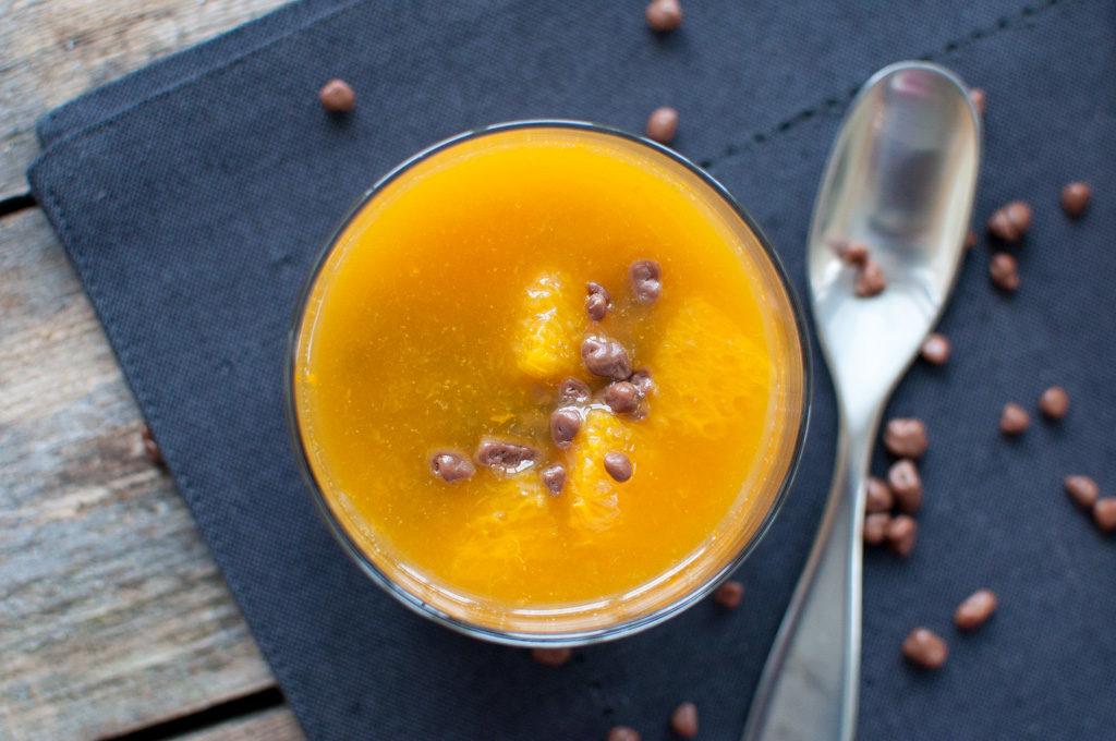 panna cotta med appelsin og daim
