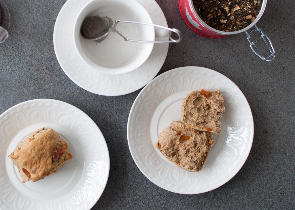 scones med kefir og aprikos