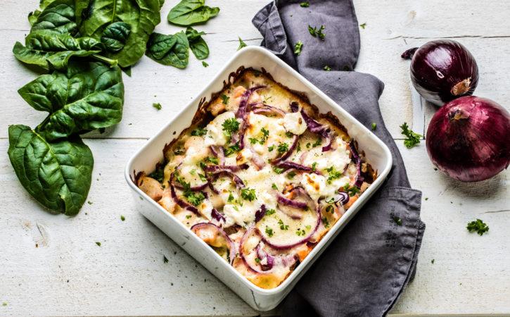 lasagne med laks spinat og apetina-ost