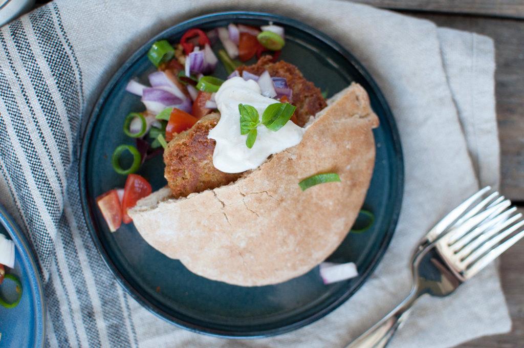 falafel pita oppskrift