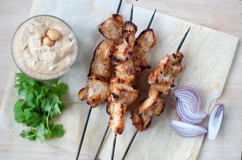 oppskrift kylling satay