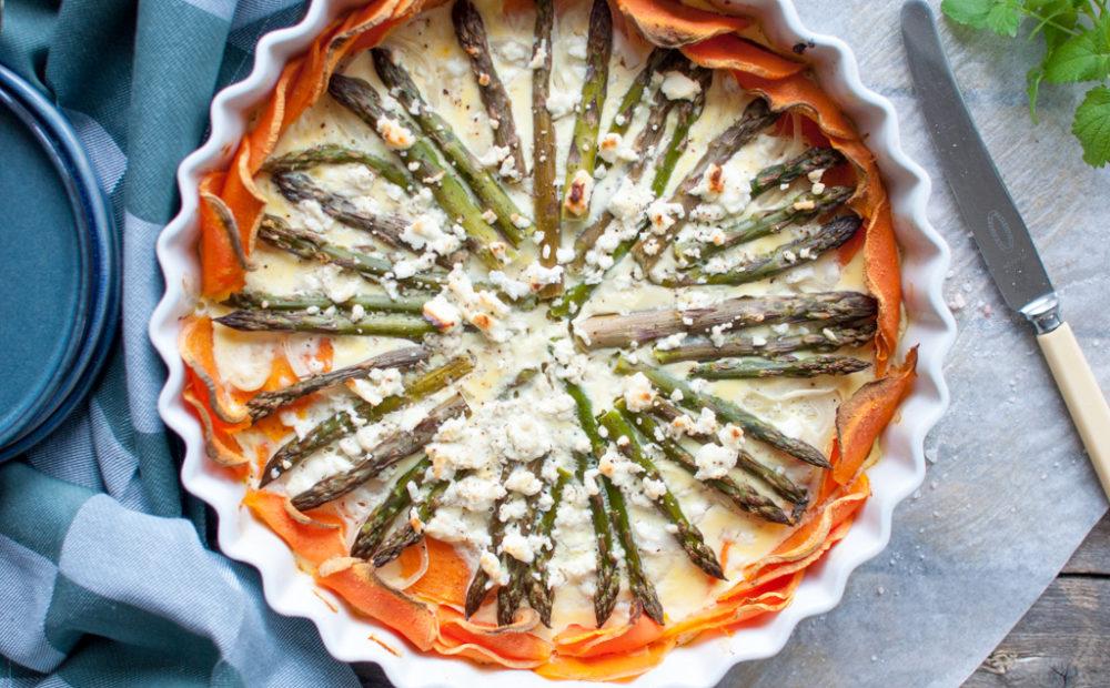 søtpotet asparges feta