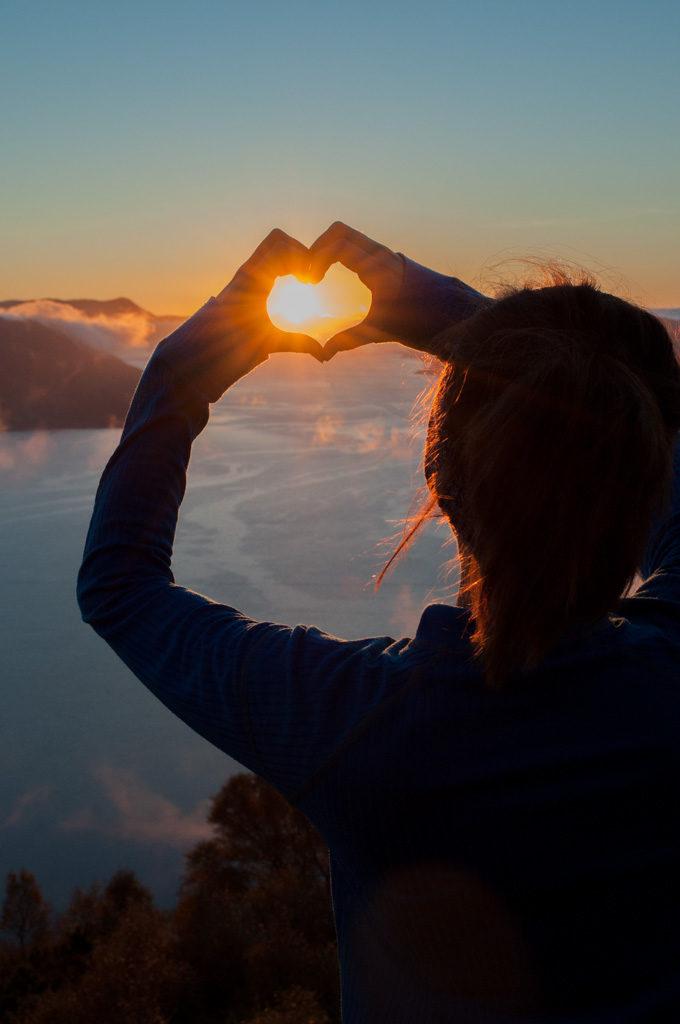 hjerte solnedgang