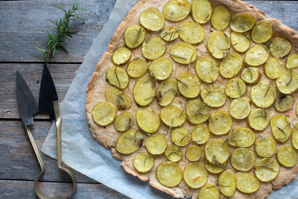 potetpizza med rosmarin