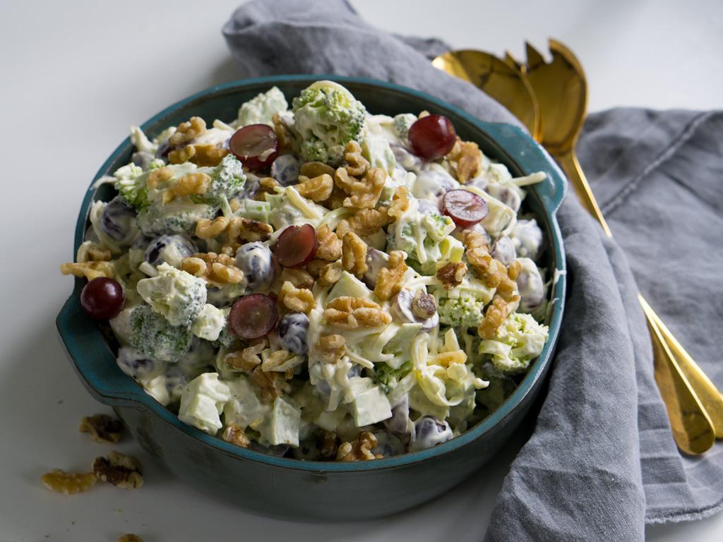 brokkolisalat med druer
