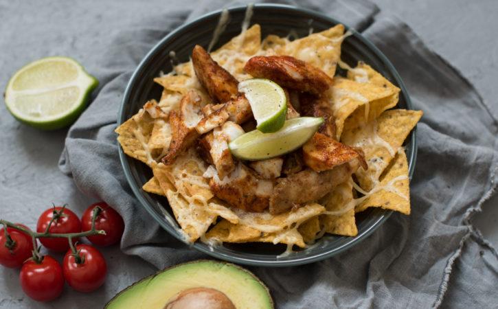 nachos med torsk