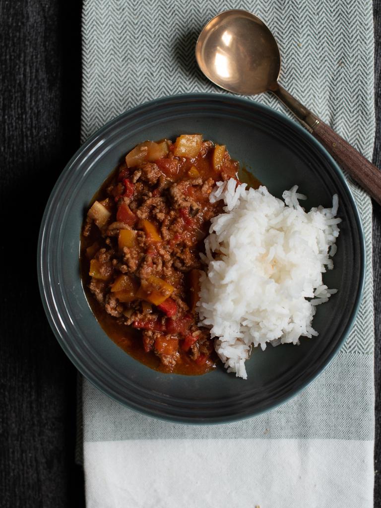 kjøttdeig og paprikagryte