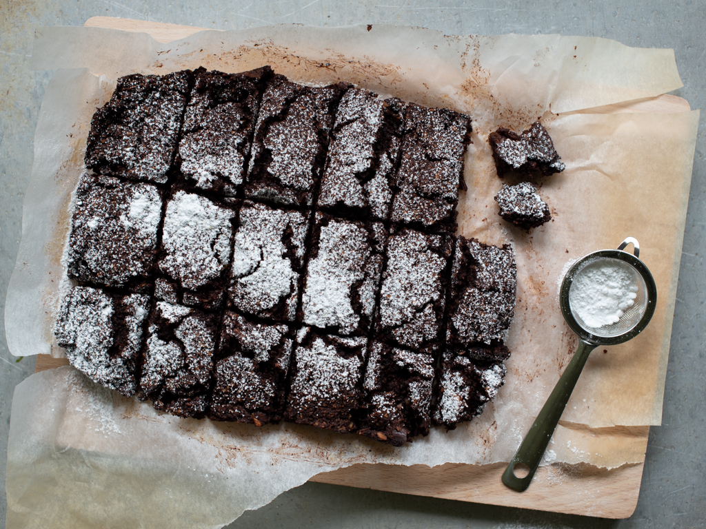 vegansk søtpotet-brownie