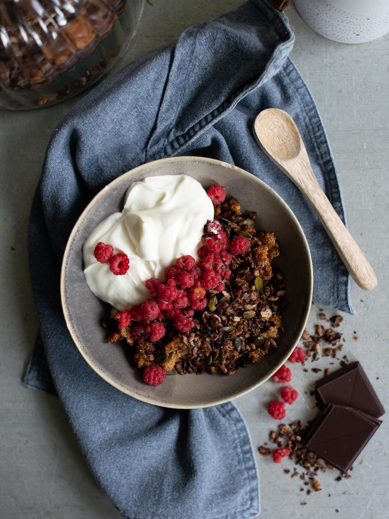 sjokoladegranola med quinoa