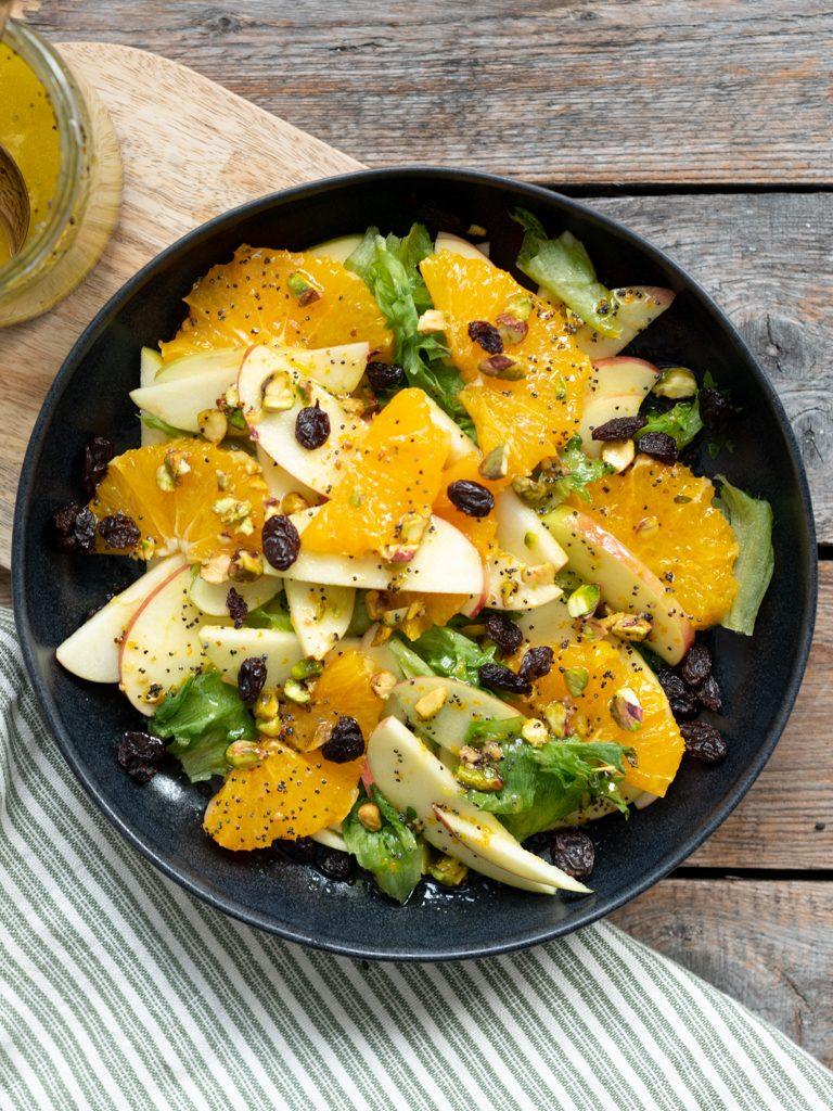 Eplesalat med appelsindressing