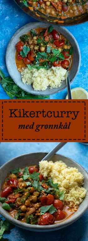 kikertcurry med grønnkål vegetar